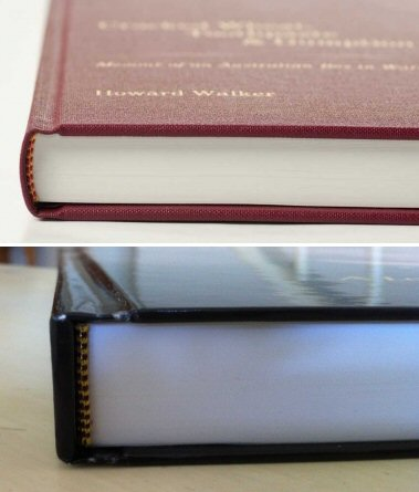 Self-Publishing | Printing and Binding Sample - Hardcover Round and Square Back